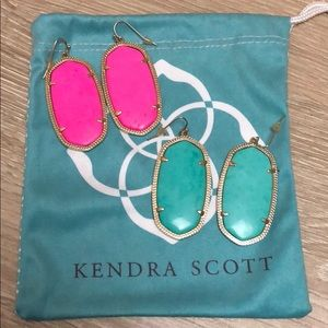 Danielle Earrings Kendra Scott Turquoise Neon Pink